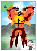 Muscle Growth Comic - Buzzwole's special fluid 2
