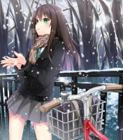 Shibuya Rin Under The Snow by Grazelz