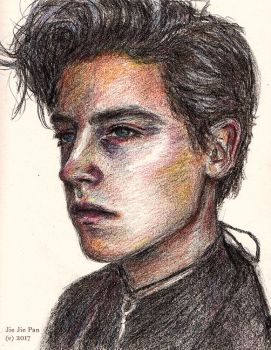 Cole Sprouse coloured by Jiejiep