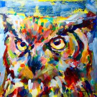 Owlpainting by monkeycrisisonmars
