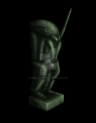 Insectoid Statuette by Nomcarver
