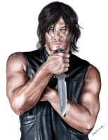 Drawing Norman Reedus as Daryl Dixon by JasminaSusak