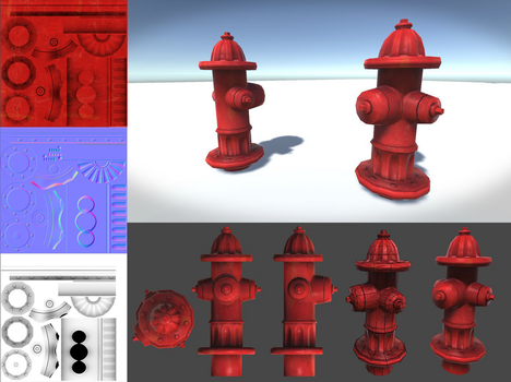 Low Poly Fire Hydrant by RegusMartin