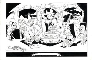 MONSTER LAST SUPPER by drawhard