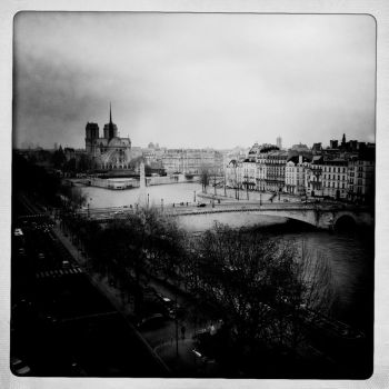 A grey afternoon along the river by d-s-foto