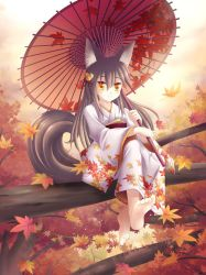 Akiko, the fox of autumn by maxwindy