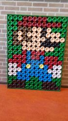 8 bit Mario (made out of cans) by HolyCPU