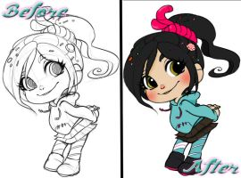 Vanellope Coloring by AsOldAsPokemon