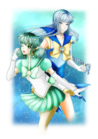 Senshi comm. || S.Constant and S.Moonbeam by BluAjisai