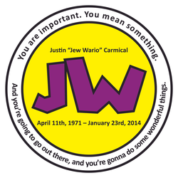 Remembering Jew Wario - Justin Carmical Patch by fangs-echidna