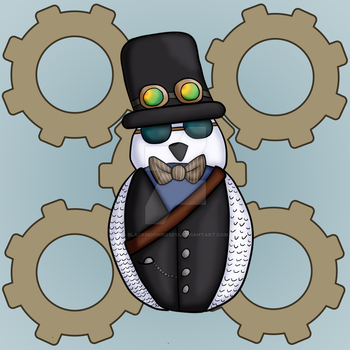 Specks the Steampunk Owl by Blackmoonrose13