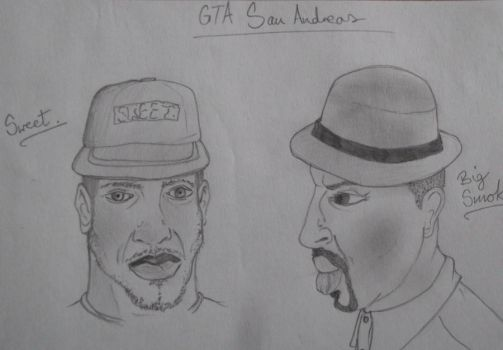 GTA San Andreas Sweet and Big Smoke by theVoodooQueen