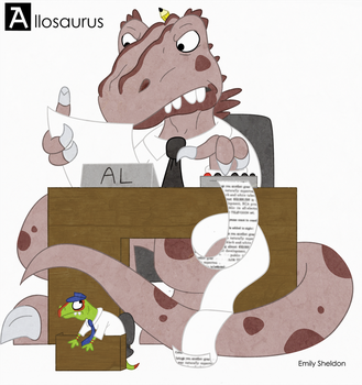 A is for Allosaurus: Color by ersheld