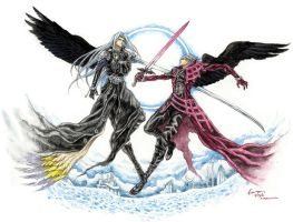 Sephiroth and Genesis by Nick-Ian