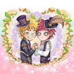 The Valentines: Naruto and Gaara by lilacerise