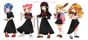 Sukeban Pixel model by E-nosst