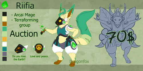 SALE Adopt|AUCTION 'Protogen Riifia' Closed!! by DragonFoxAdopts