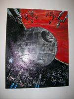 Death Star Attack  Painting by CJRogue