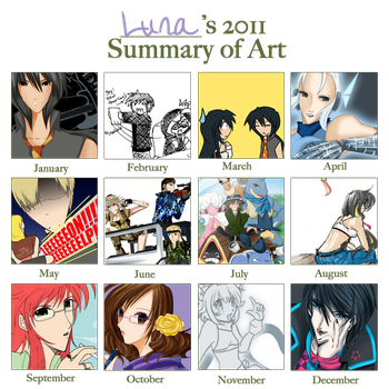 Luna's Art Thing for 2011 by anime-dragon-tamer