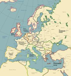 The European Continent in the Year 1928 A.D. by SPARTAN-127