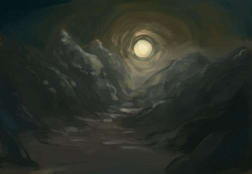 Practice - Moonlit Mountains by MyelinSheath