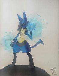 Lucario by Shy-Shadows
