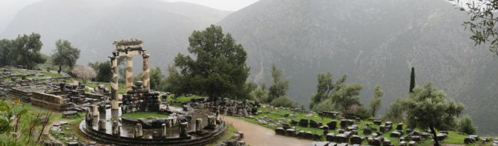 Sacturary of Athena - Delphi, Greece by Drakon-the-Demon