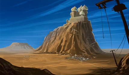 Desert city by RatchaArt