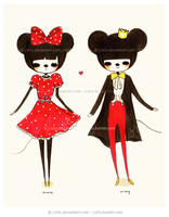 Minnie and Mickey Mouse by j-b0x