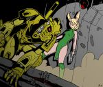 Lucy Hare And Takanuva Coloured by MikeOrion