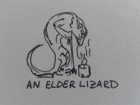 An Elder Lizard by LynxieBoo