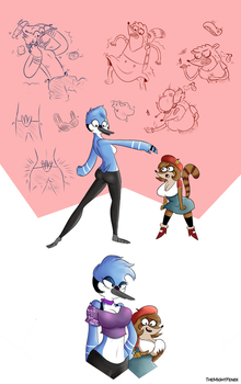 Regular TG Sequence - a Regular Show Genderbend by TheMightFenek