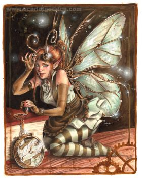 A Clockwork Faerie - color - by Claudia-SG