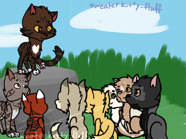 Nutkit/paw's apprentice ceremony by Sweaterkitty-Fluff