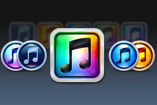 iTunes 10 Icons by Flarup