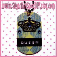 Royal Crown Dog Tag Necklace by wickedland