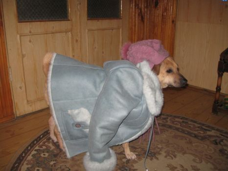 Sabrina and ,,This was mine fur coat,, by PC9