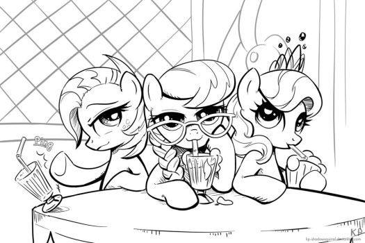 Bad Girls (lineart) by KP-ShadowSquirrel