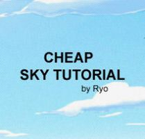 Cheap Sky Tutorial by ryo-hakkai