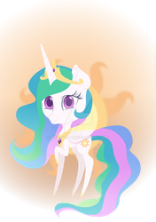 Chibi princess celestia by Bat-Blood