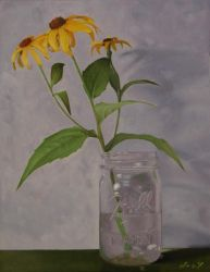 Black Eyed Susan Painting by golfiscool
