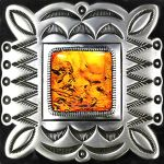 Amerindian Navajo Decal Badge with Amber by LilipilySpirit