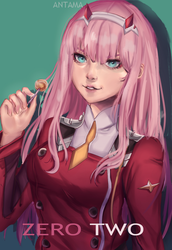 ZERO TWO - FAN ART by Antama