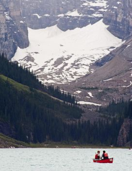 Canoeing Lake Louise by bulloney