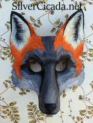 Cross Fox Leather Mask by SilverCicada