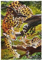 Camouflage 3 Leopards by kiki-doodle