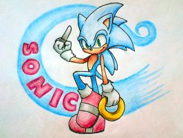 Sonic the hedgehog with ring by Shadowblow