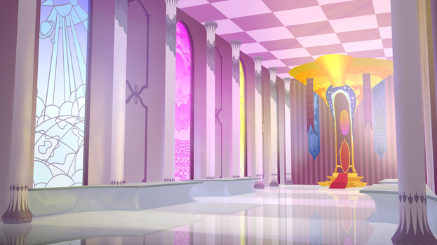 Celestia's Throne Room 3D WIP 2 by DevolutionEX