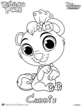 coloring page of cubbie from princess palace pets by skgaleana - Disney Palace Pets Coloring Pages