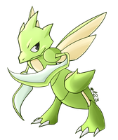 Scyther by LordChatta